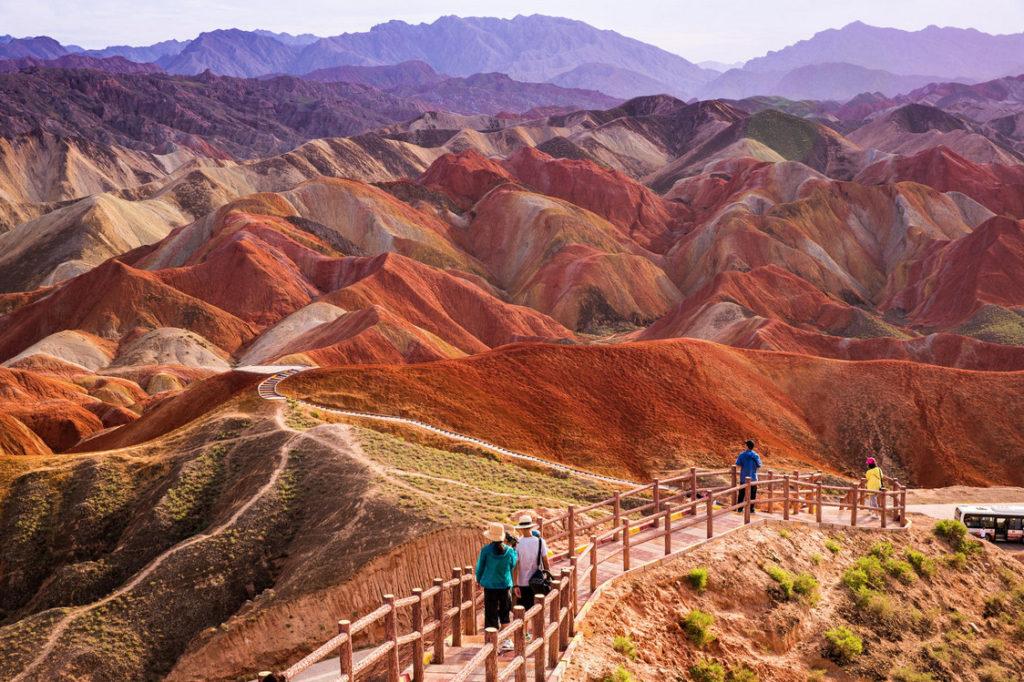 Цветные горы Чжанъе Данься(Данксия), Китай