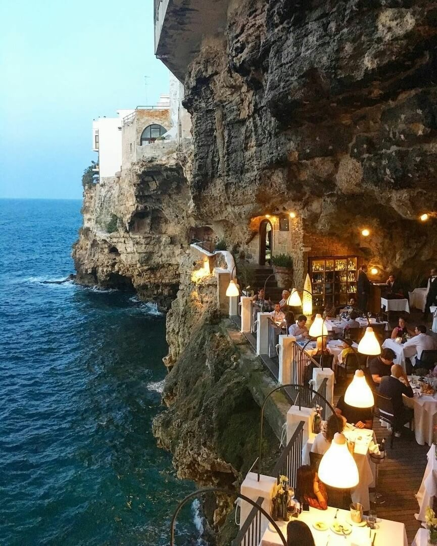 Гротта Палаццезе – ресторан в пещере, Италия
