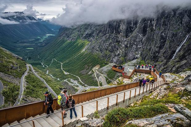 Дорога(лестница) троллей, Норвегия