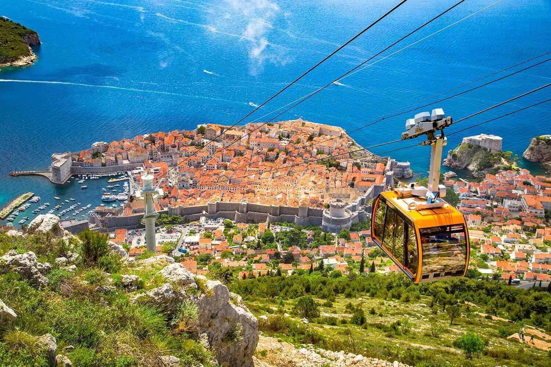 Гора Срдж. Дубровник, Хорватия.